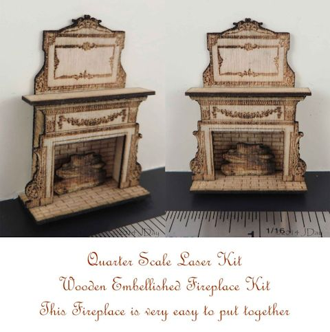Embellished Fireplace 1:48 LC004