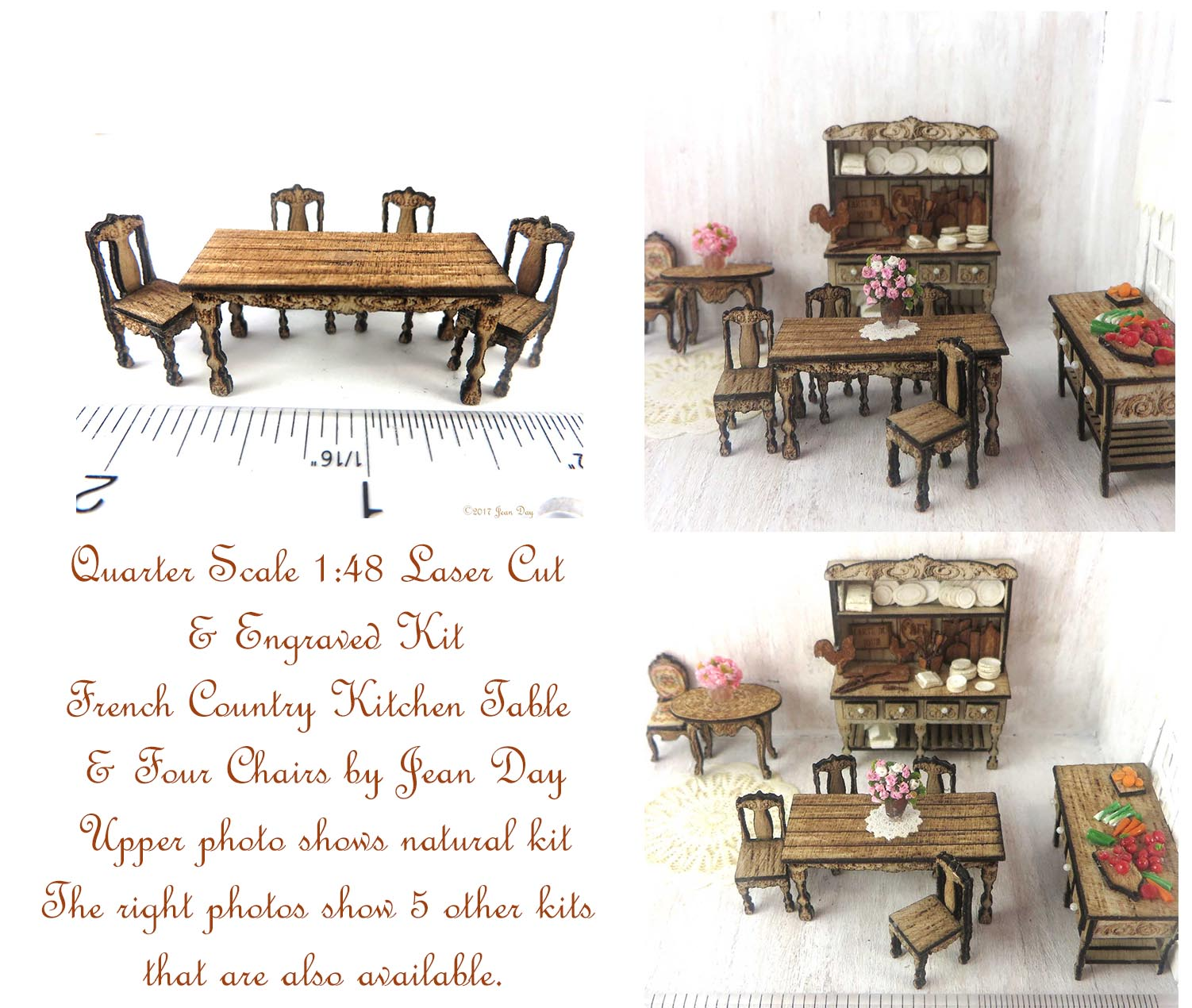 French Country Kitchen Table and Four Chairs LC047