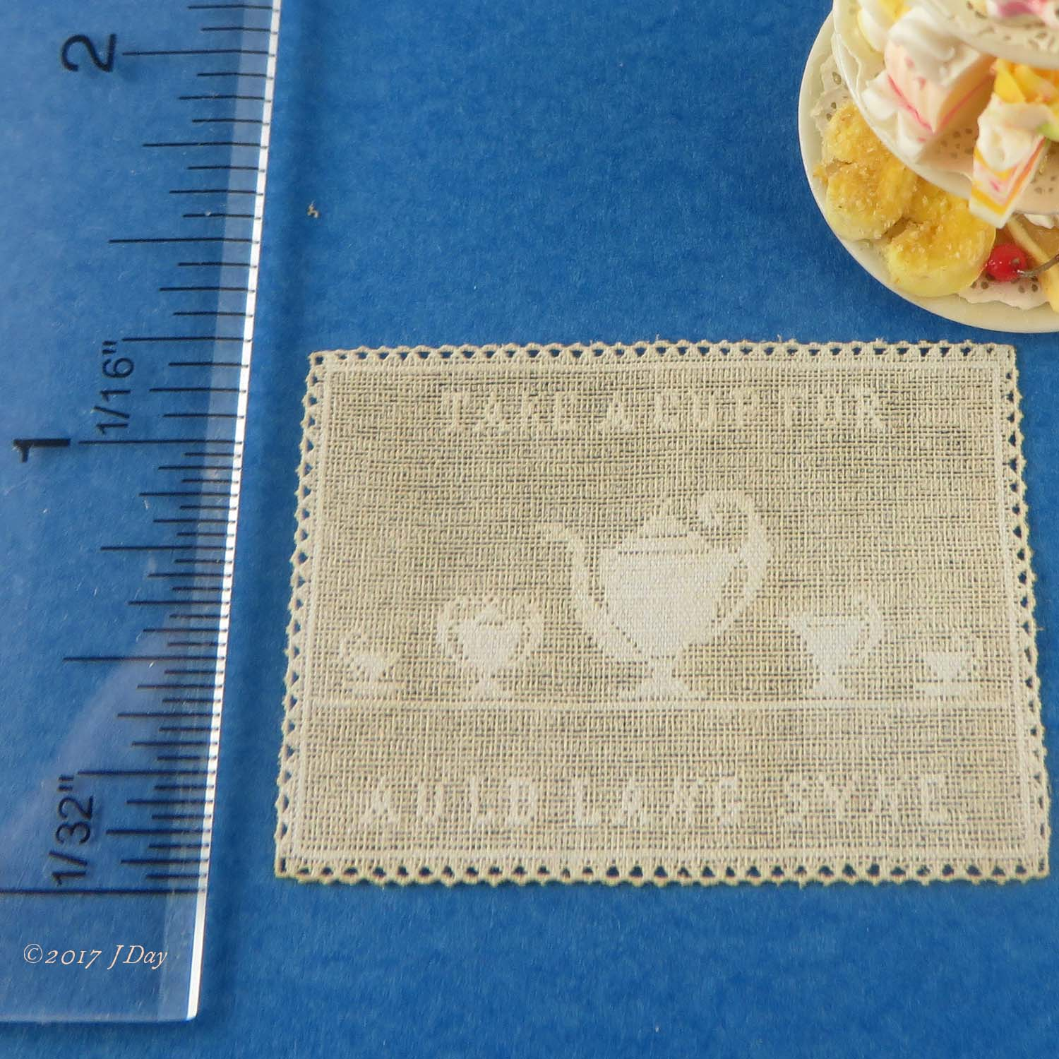 LL Cotton Lace Take a Cup For Auld Lang Syne LL045