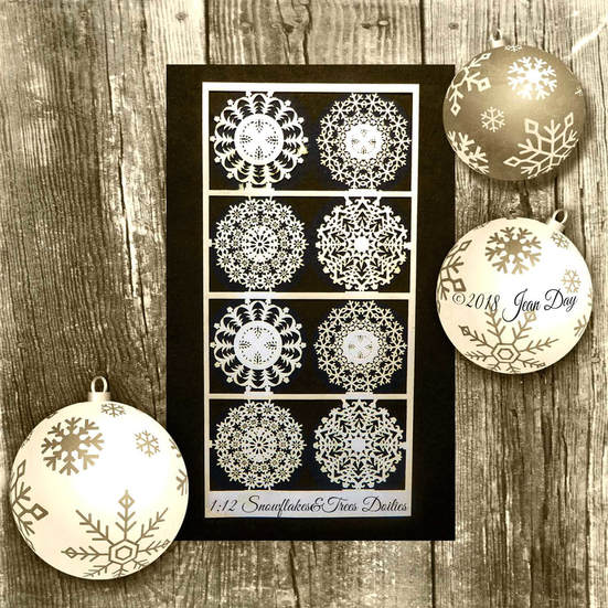 PD Paper Doilies, Snowflakes and Trees 1:12 PL173