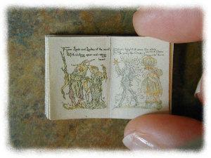 1:12 SCALE MINIATURE BOOK FLORA'S FEAST WALTER CRANE