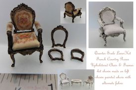 French Country Roses Upholstered Chair 1:48 LC003