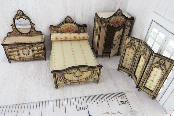 Four Piece French Country Bedroom Set 1:48 LC022A