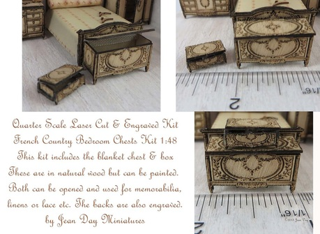 French Country Chest and Box 1:48 LC023