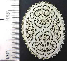 LL Centerpiece French Floral Cutwork Style LL142