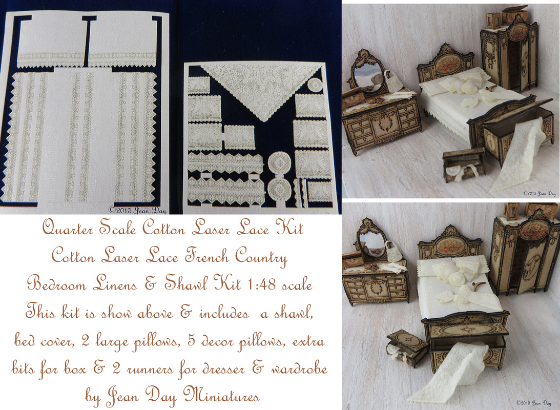 French Country Bedroom Linens 1:48LQ034