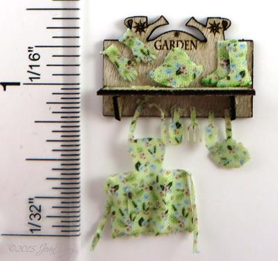 Floral Garden Apron Gloves Self Laser Cut LQ056