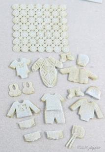 Laser Lace Baby Bunting Kit 1:48 Blue LQ062