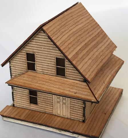 1886 House With Wrapped Porch Kit 1:144 MK001