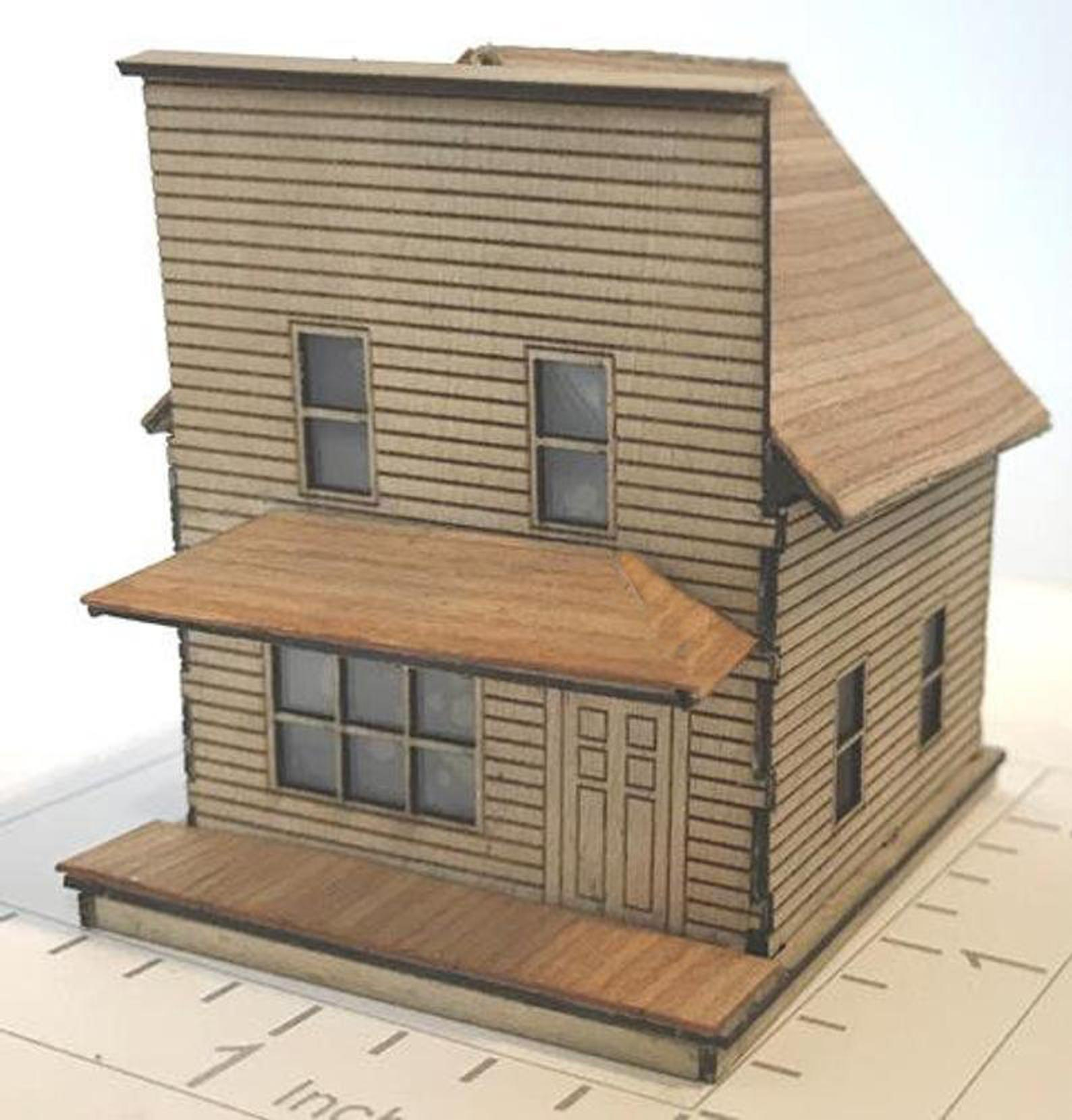 1886 Store With False Front/Porch Kit 1:144 MK005